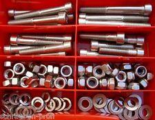 100 Teile acciaio inox scatola brugola viti DADI M8 DIN 912 XXL