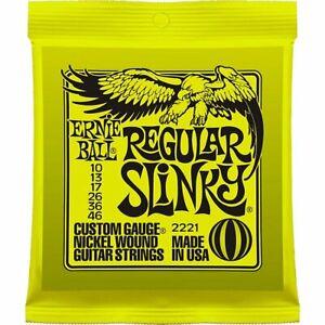 Ernie Ball 2221 Regular Slinky Electric Guitar Strings 10 - 46 SPECIAL OFFER
