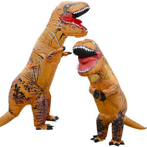 Halloween T-REX Inflatable Dinosaur Cosplay Costume Jurassic Party Fancy Dresses