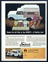1963 International Scout Deluxe Model Camper photo Room for All vintage print ad