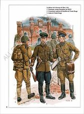 PLANCHE UNIFORMS PRINT WWII RUSSIA RED ARMY Soviet Armed Forces Soldiers NKVD