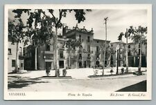 Vendrell Spain—Plaza de España RPPC Vintage Foto Photo Tarragona Gasso 1930s