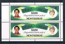Montserrat 1981 Royal Wedding Booklet Pane SG 518a MNH