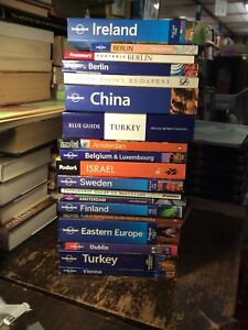 Lot of 19 Travel Guides Lonely Planet Frommer's Europe Asia Berlin Netherlands