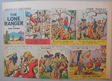 Lone Ranger Sunday Page by Fran Striker and Charles Flanders from 10/25/1942