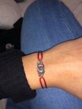 Bracelet Menottes Argent 925 Cordon Rouge