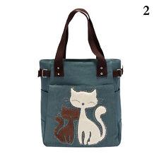 Tasche Lovely Katze Canvas Shopper Umhängetasche Schultertasche Damentasche ge