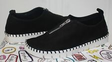 Jeffrey Campbell Tiles Z Zip front slip-on sneaker-style shoes black suede NEW!