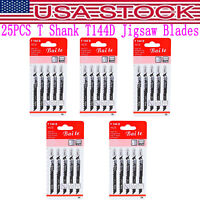25PCS T144D Jigsaw Blades T-shank Design for Dewalt Bosch Makita Milwaukee&Other