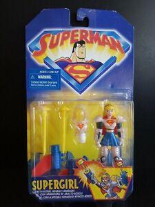 "1998 Animated Superman ""SuperGirl"" Action Figure, Hasbro Kenner,  Unopened"