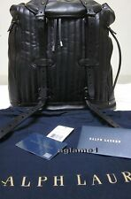 4ab30dc23cea Rare NWT Rare Ralph Lauren Leather backpack Unisex Black Bag