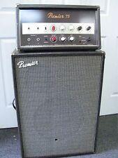New listing 1960's Premier 75 Piggyback Amplifier 2 P/C Set In Excellent Condition Pick Up