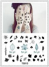 Leaf Temporary Tattoo Sticker DIY Keep 3-5 days Waterproof 14x9cm TS013