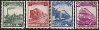 Stamp Germany Mi 580-3 Sc 459-62 1935 War Fascism Train Locomotive Rail MNH