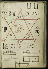 The Key of Hell Cyprianus Black Magic 18th Century, 7x5 Inch Reprint Hexagon