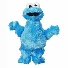 "Hasbro Micro Plush Pal COOKIE MONSTER 9"" 123 SESAME STREET Soft Toy Figure"
