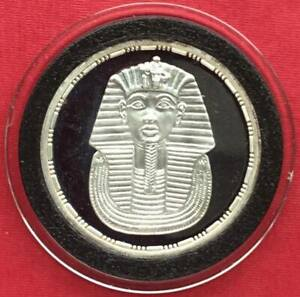 EGYPT , 5 POUNDS KING TUT ANKH AMEN 1993 - TREASURE COLLECTION ( CUSA1 ) , RARE
