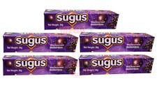5 pack Sugus Blackcurrant Flavoured Chewy Sweet Candy Fruit Juice Fun Chewy 30g.