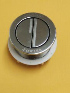 Caroma Fowler Round Flat Bezel Chrome Smartflush Dual Toilet Button
