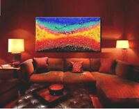 Abstract Painting Oil Modern Large Home 3D Nature Original Landscape XXXL Canvas