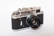 A fully serviced Zorki 4K camera with tested shutter and leather case