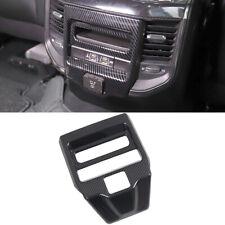 Accessories Carbon Fiber Rear Air Vent Cover Trim For Dodge Ram 1500 2019-2020