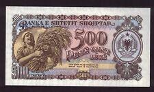 ALBANIA 1957 500 LEKE BANKNOTE HARVEST SCENE SKANDERBEG CH-UNC P.31