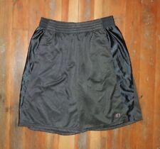 CHAMPION Logo Athletic Black BASKETBALL SHORTS Soccer Running Gym Sz Men's LARGE