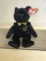 TY Beanie Baby The End Bear~TAG ERRORS 1999 RARE RETIRED EXCELLENT CONDITION