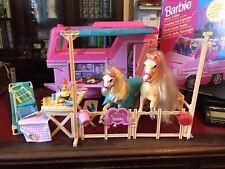 Vintage Barbie Horse Trailer Camper 2 X Horses & Accessories Furniture Etc