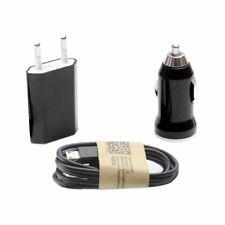 Cargador 3 en 1 casa coche cable de datos Micro USB BQ Aquaris U