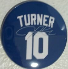 Los Angeles Dodgers Justin Turner #10 Blue And Grey 2 Magnets Size 3X3 Inches.