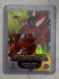 2020-21 Topps Finest Champions League Alphonso Davies Prized Footballers Fusion