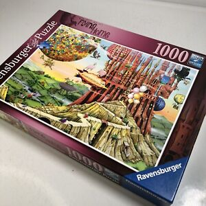 Ravensburger Flying Home 1000 Pc Puzzle No. 196524 Fantasy Aviation Balloons