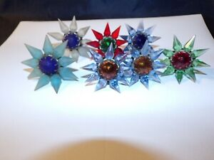 LOT OF 7 VINTAGE  1930s MATCHLESS WONDER STAR   CHRISTMAS BULBS WORKING