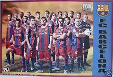 "FC BARCELONA ""BARCAFANS"" FOOTBALL POSTER-Messi,Xavi,Fabregas,Puyol,Iniesta,Villa"