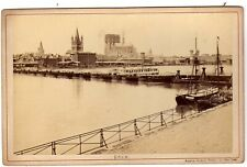Coln view  ALBUMEN ca. 1880 Photographer Anselm Schmitz  fotografie RARE Koln