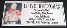 Boxing LLOYD HONEYGHAN  Silver new Photo  Free Postage