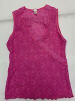 Yamamay pink lace  poliamide Camisole Top sleepwear nightwear size L
