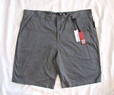 i Jeans By Buffalo brand Men's Shorts Sz 42 Dark Grey Gray FABIO Flat Front NEW