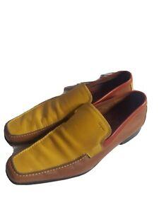 Salvatore Ferragamo Mens multi-color slip on shoes . US size 9 or 9.5