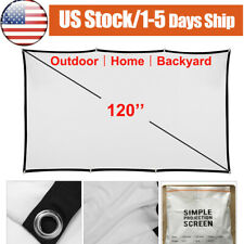 120' Projector Screen Portable Folding16:9 Screen Home Theater Movie Outdoor Us