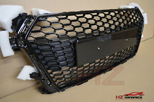 BLACK EDITION BADGELESS FRONT GRILL GRILLE FITS AUDI TT MK3 2014 2018 TTRS LOOK