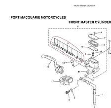Yamaha Front Master Cylinder Kit YZ125 YZ250 YZ250F YZ450F