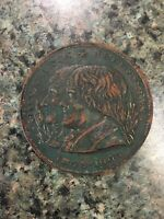 Rare 1803-1903 Louisiana Purchase Centennial Medal JEFFERSON & NAPOLEON