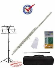 Fever Nickel C Flute Closed Hole Package, Case, Music Stand, Cleaning Kit