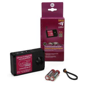 STOP & GO Marderschutz Marderschreck Ultraschallgerät mit Batterie 07580