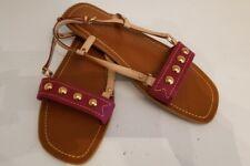 AUTHENTIC LOUIS VUITTON Studded Flat Sandals, Size 40, Pre-owned EUC