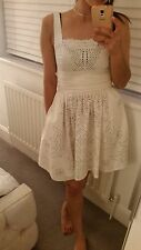 Kate Moss Topshop Cream Beaded Chick Style Summer Dress 8 BNWT