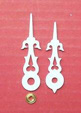 New  WHITE  cuckoo clock hands to suit various Regula movements & dial sizes.